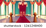 medieval castle or royal palace ... | Shutterstock .eps vector #1261248400