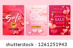 valentine's day sale background ... | Shutterstock .eps vector #1261251943
