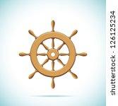 wooden ship wheel. vector...   Shutterstock .eps vector #126125234