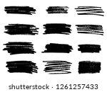 marker black lines. vector... | Shutterstock .eps vector #1261257433