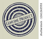 blue genuine product distress... | Shutterstock .eps vector #1261263553