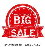 illustration of  big sale label ... | Shutterstock .eps vector #126127169
