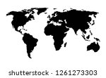 world map vector | Shutterstock .eps vector #1261273303