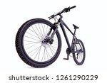 mountain bike against a white...   Shutterstock . vector #1261290229