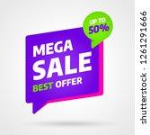 sale banner template design ... | Shutterstock .eps vector #1261291666