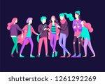 vector people happy friends...   Shutterstock .eps vector #1261292269