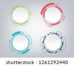 abstract technology... | Shutterstock .eps vector #1261292440