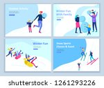 set of landing page templates.... | Shutterstock .eps vector #1261293226