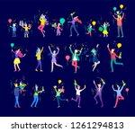 happy christmas day celebrating ... | Shutterstock .eps vector #1261294813