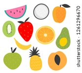 isolated vector set of... | Shutterstock .eps vector #1261296670