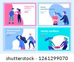set of landing page templates... | Shutterstock .eps vector #1261299070