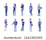 detailed character students ... | Shutterstock .eps vector #1261302343