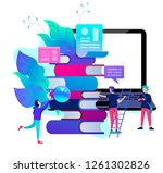 concept education people ... | Shutterstock .eps vector #1261302826