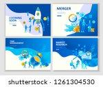 set landing page template... | Shutterstock .eps vector #1261304530