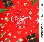 christmas sale concept. banner...   Shutterstock .eps vector #1261311256