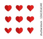 heart icons  sign of love ... | Shutterstock .eps vector #1261316140