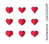 heart icons  sign of love ... | Shutterstock .eps vector #1261316149