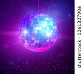disco or mirror ball with...