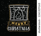 merry christmas. typography.... | Shutterstock .eps vector #1261329163