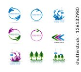 arrow icons set   isolated on... | Shutterstock .eps vector #126132980