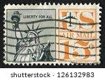 usa  circa 1961  postage stamp... | Shutterstock . vector #126132983