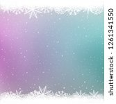 snowy color winter template.... | Shutterstock . vector #1261341550
