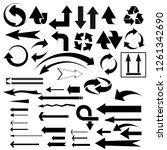vector set of different useful... | Shutterstock .eps vector #1261342690