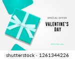 happy valentines day sale ... | Shutterstock .eps vector #1261344226
