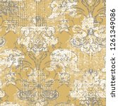 raster illustration. damask... | Shutterstock . vector #1261349086
