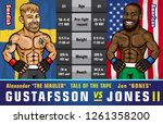 ufc 232. jones vs. gustafsson 2.... | Shutterstock .eps vector #1261358200