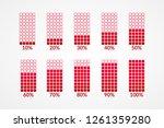 10 20 30 40 50 60 70 80 90 100... | Shutterstock .eps vector #1261359280