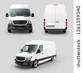 white cargo express van vehicle ... | Shutterstock . vector #1261359340