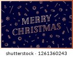 merry christmas. greeting card... | Shutterstock . vector #1261360243