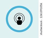 antenna icon symbol. premium... | Shutterstock .eps vector #1261391056