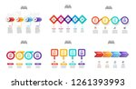 vector infographics set.... | Shutterstock .eps vector #1261393993