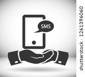 smartphone email or sms icon