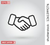 business handshake and contract ...