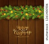 holiday decorations with... | Shutterstock .eps vector #1261400506