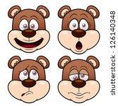 Illustration Of Cartoon Bear...