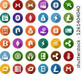 color back flat icon set  ... | Shutterstock .eps vector #1261404040