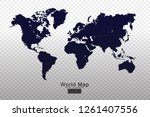 world map vector template with... | Shutterstock .eps vector #1261407556
