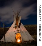 traditional north american... | Shutterstock . vector #126140990