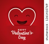 valentine's day greeting card... | Shutterstock .eps vector #1261410769