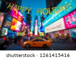 happy holidays message hanging... | Shutterstock . vector #1261415416