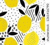 lemon seamless pattern for... | Shutterstock .eps vector #1261416790