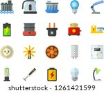 color flat icon set energy...