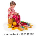 one small little girl playing... | Shutterstock . vector #126142238