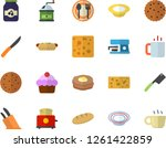 color flat icon set knives flat ... | Shutterstock .eps vector #1261422859