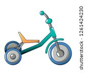tricycle icon. cartoon of... | Shutterstock . vector #1261424230