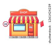 24 hours street store icon.... | Shutterstock . vector #1261424239